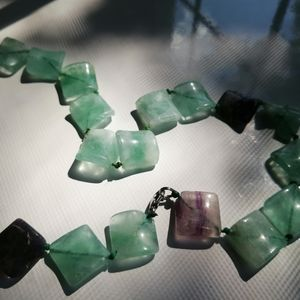 Real Green Purple Jade Necklace